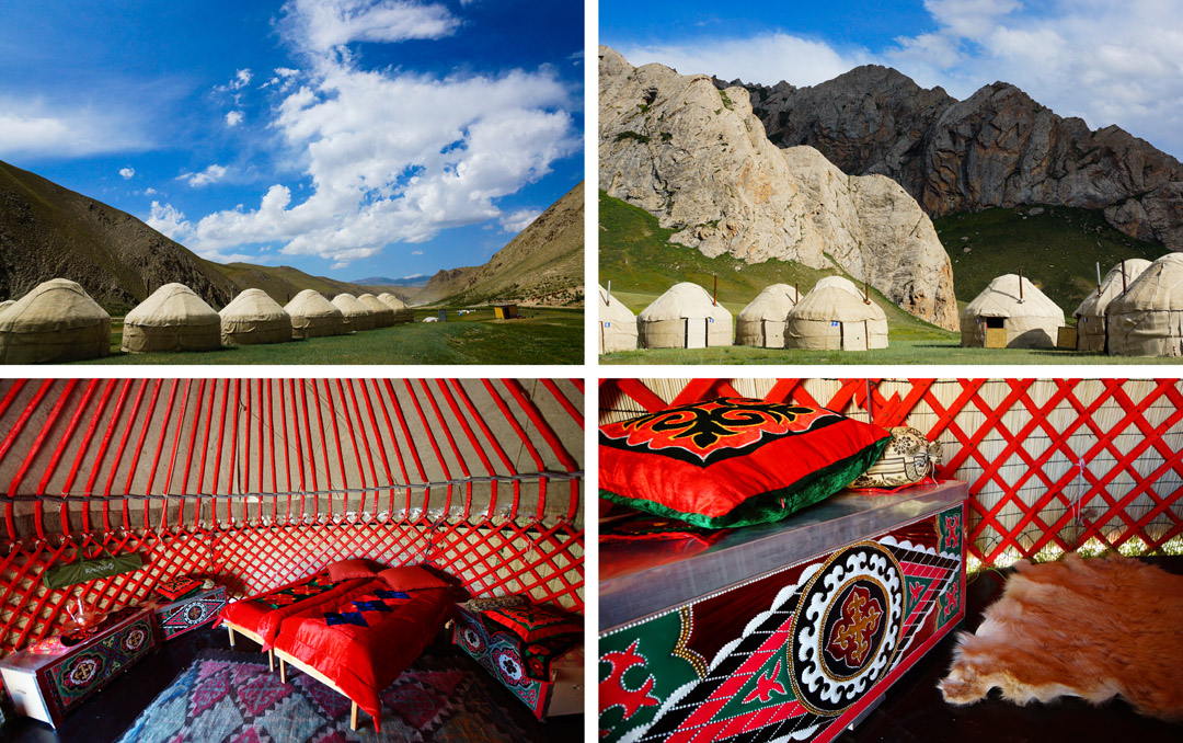 slapen in yurt Kirgizië