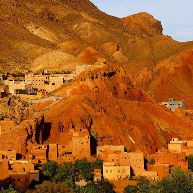 The Dades Valley in Morocco at sunset The mountains seemhellip