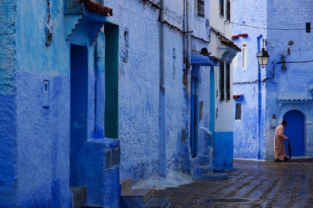 blauwe stad Chefchaouen Marokko