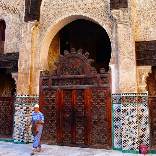 The Bou Inania Madrassa a theological college in Fes ishellip