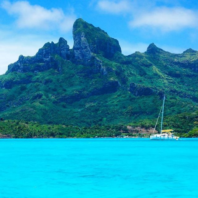On Bora Bora Photoshop is not needed The lagoon reallyhellip