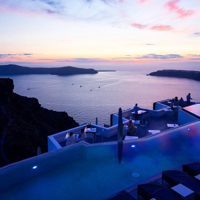 A pool with a view! Santorini has so many gorgeoushellip