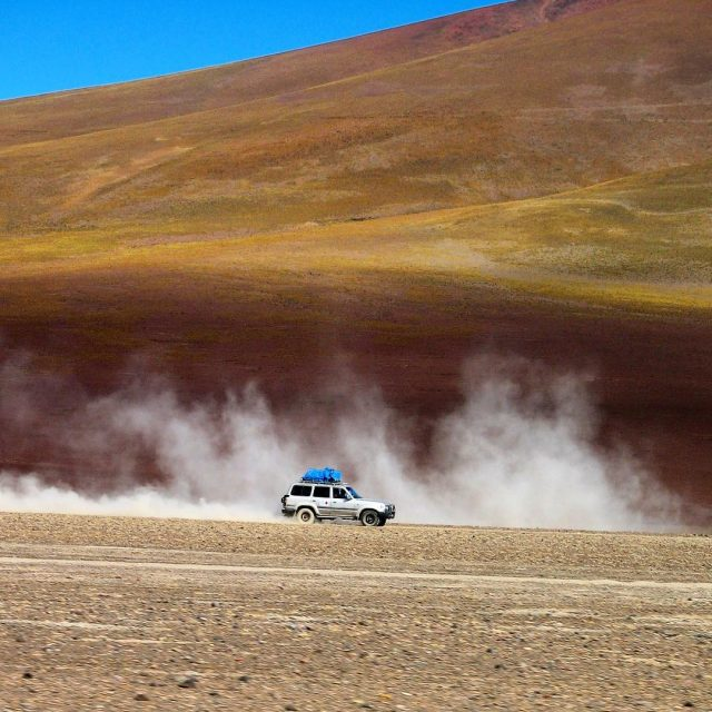 Driving the dusty Altiplano in Bolivia! One of the besthellip