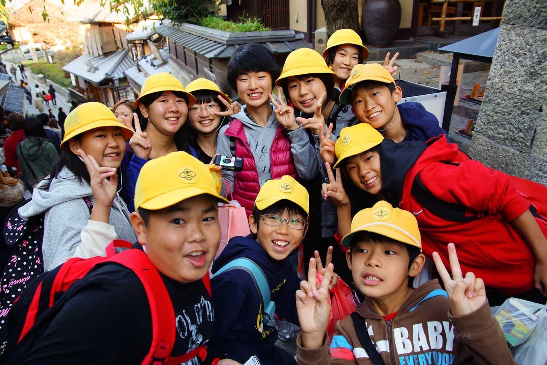Schoolkinderen Japan