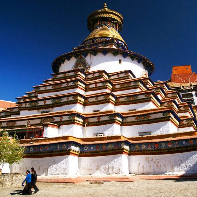 The Gyantse Kumbum is a beautiful monastery in Gyantse Tibethellip