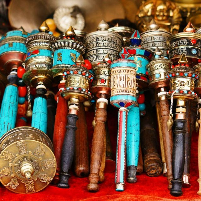 Prayer wheels for sale in Lhasa Tibet! I spent hourshellip