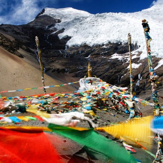 The Karola glacier in Tibet is stunning! reizen travel tibethellip