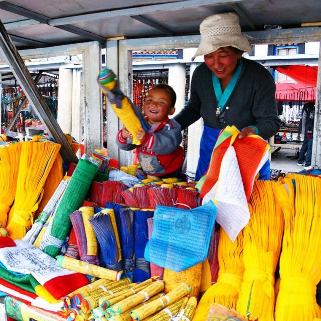 Prayer flags for sale at Lhasas markets! I could spenthellip