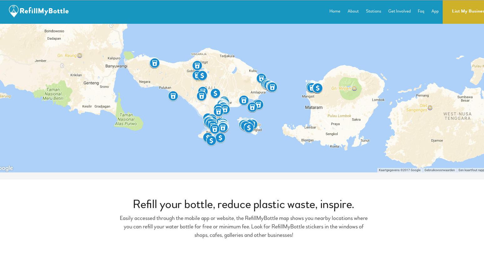 Refill Bali app