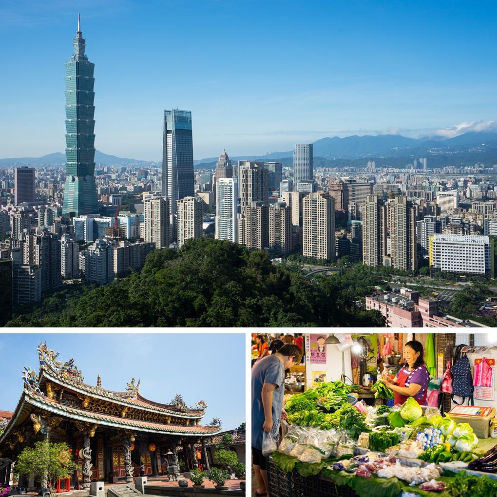 Taiwan-steden