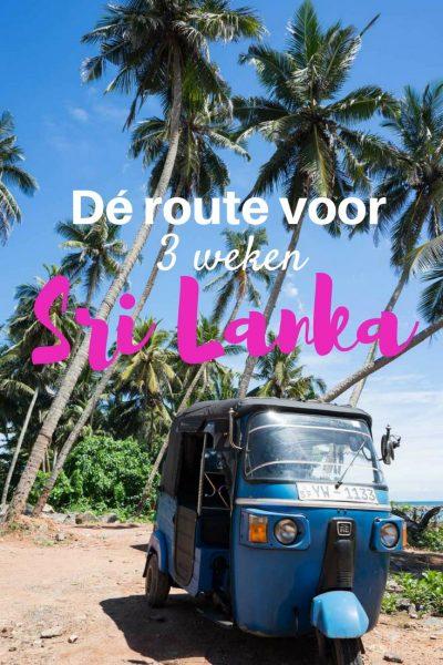route reis Sri Lanka